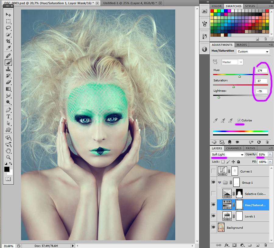 Photoshop tutorial Color correction